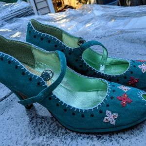 Women's Sam Edelman Torquise Blue Heels 8.5M NWOT